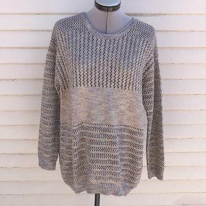 Nasty gal metallic rainbow knit oversize sweater S